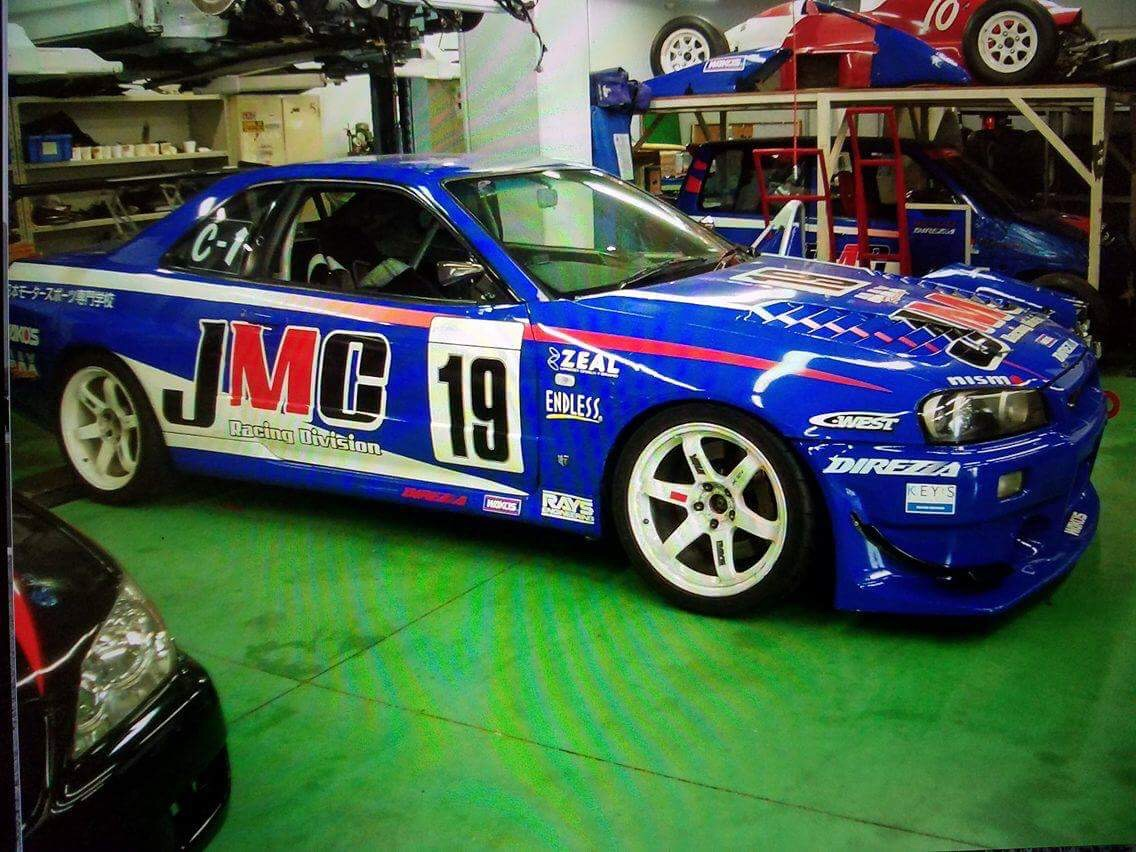 The JMC Super Taikyu R34 GTR at Endless before it was rebuilt for Time Attack in the Extreme series in Norway