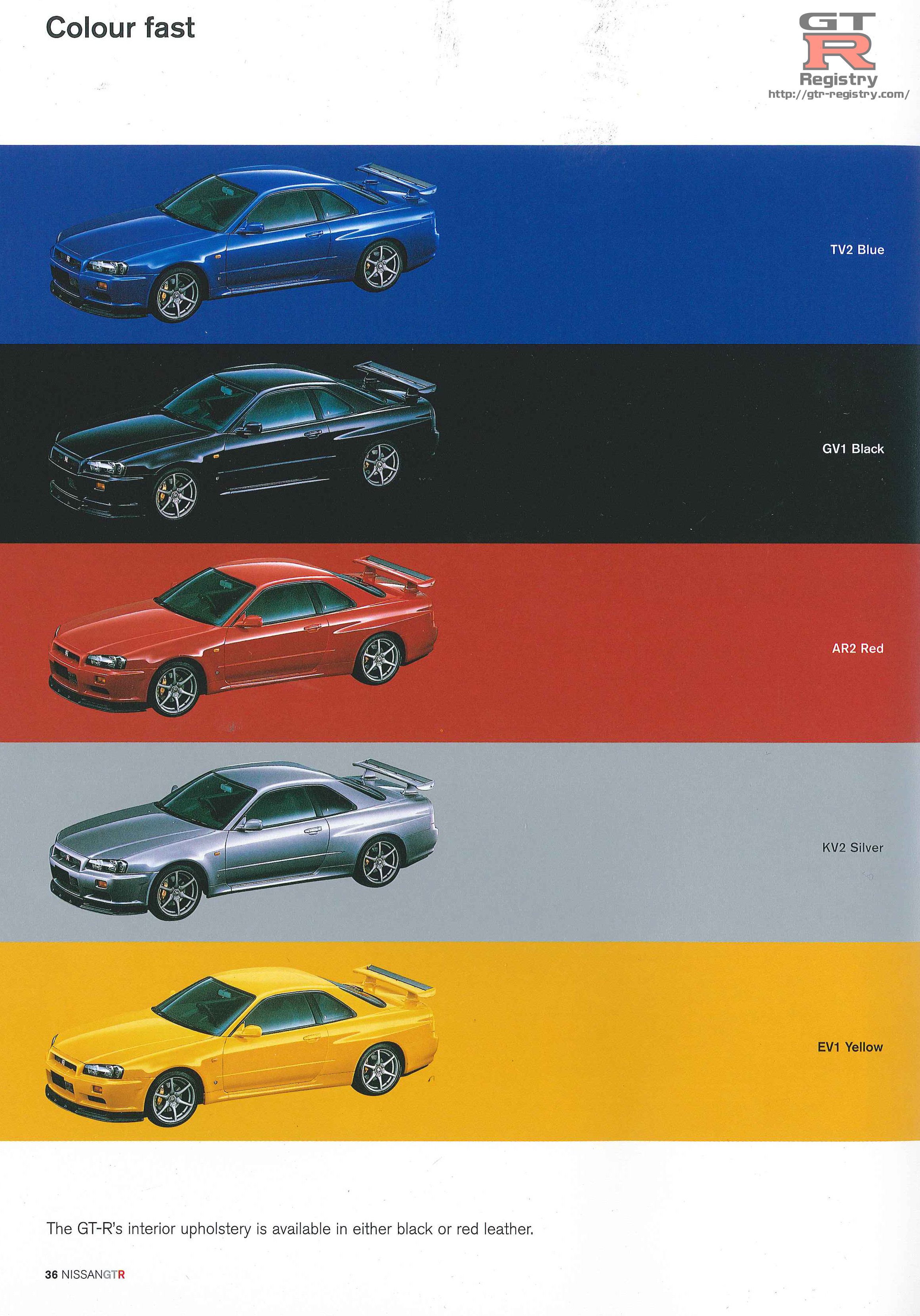 Colour Brochure Charts Supplied With Thanks To Rajeel Mrfijigold